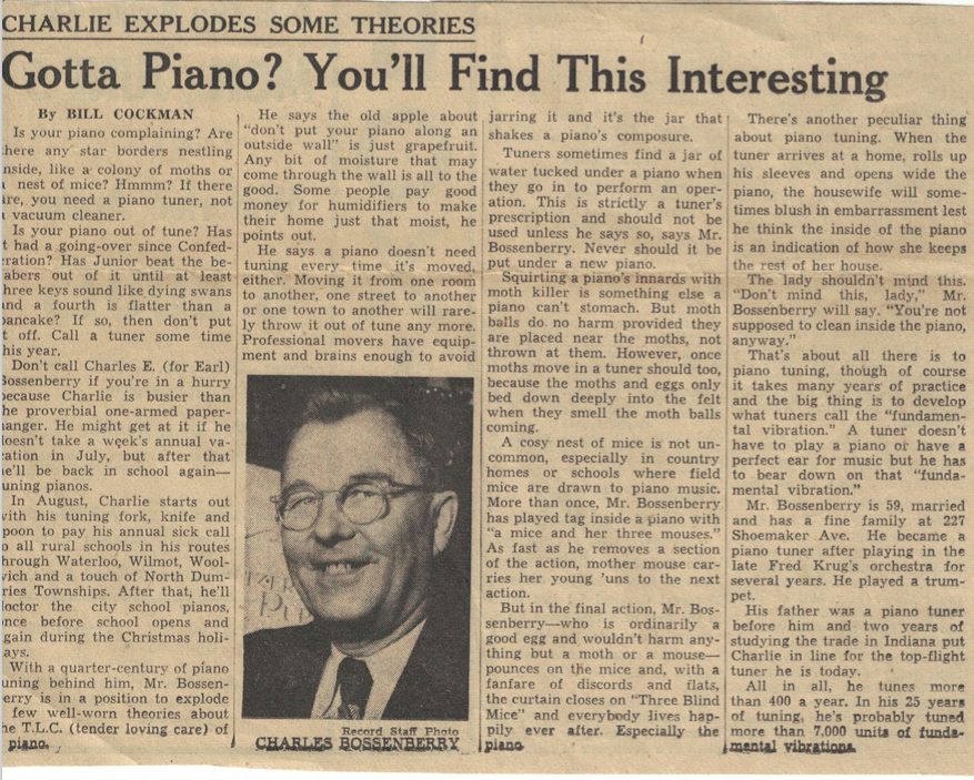 Piano news article